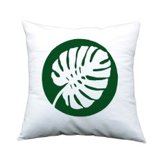 Monstera leaf handmade cushion cover