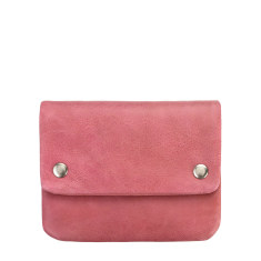 Norma leather wallet in pink