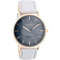 Slimline mother of pearl watch (various colours)