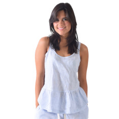 Bora Bora blues women's sleeveless top
