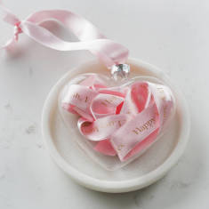 Personalised Mother's Day Message In A Glass Heart