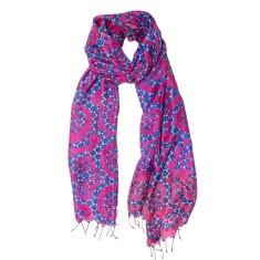 Vivid burst silk scarf