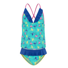 Girls' UPF 50+ flamingo tankini