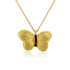 Butterfly Pendant Necklace in 14ct Gold