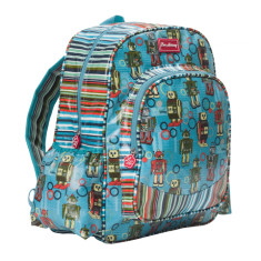 Large backpack in Robot/Downey Stripe Print