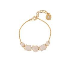 Five stones bracelet - Beige Pink Diamantine