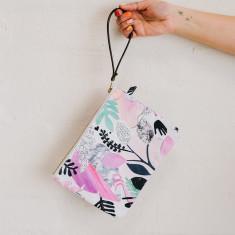 Jungle day clutch purse