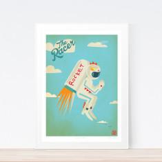Racer jet pack art print