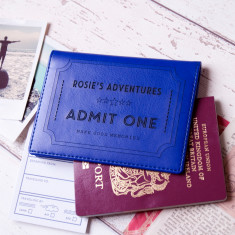 Ticket To Adventure Personalised Passport wallet