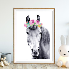 Rosie pony art print (various sizes)