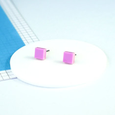 Mini Acrylic square studs - pastel purple