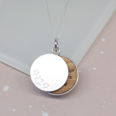 Personalised Lucky Stars Disc Necklace