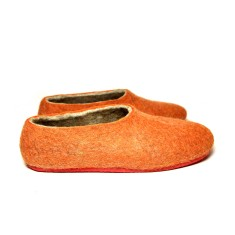 Women's Handmade Felt Shoes Red Robins