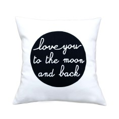 Love you to the moon and back handmade cushion cover
