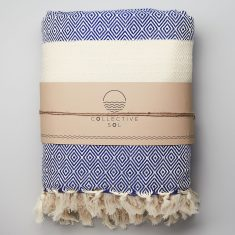 Moroccan Throw in Royal Blue
