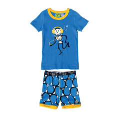 Jammin' skeleton short john set
