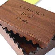 Personalised Solid Wood Interlocking Keepsake Box