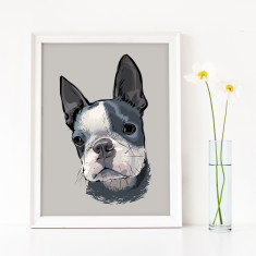 Bespoke Dog Or Pet Portrait Art Print