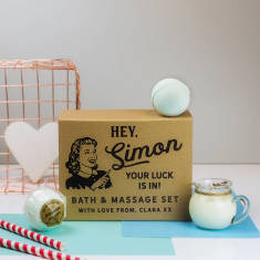 Personalised bath and massage set