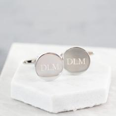 Personalised Engraved Initial Cufflinks