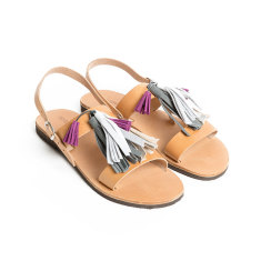 Sandalaki handmade Greek sandals In Grey