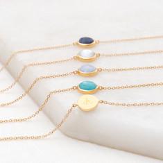 Personalised gemstone chain bracelet