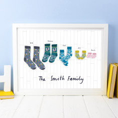 Personalised Family Sock Print