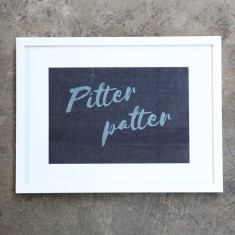Pitter Patter Denim Print