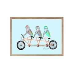 Triple Tandem Giclee print