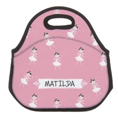 Personalised Neoprene Lunch Bag - Ballerina