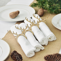 Christmas Personalised Name Placecards Napkin Rings