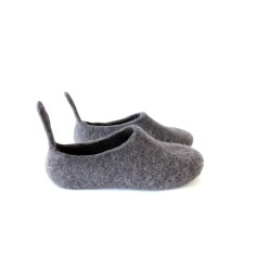 Womens Wool Slippers Cat Walking