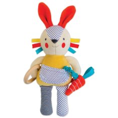 Petit Collage Busy Bunny Organic Baby Activity Toy