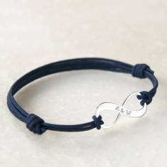 Personalised Infinity Bracelet For Him