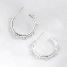 ed1a78ca2 Small Double Orb Hoop Earrings In Silver