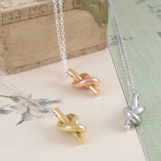 122c31f1e03183 Friendship Knot Gold And Silver Necklace. by Otis Jaxon Silver Jewellery