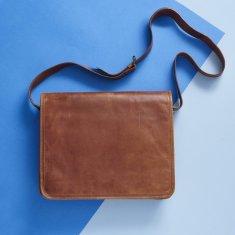 ccf57a6ea Tan Leather Messenger Laptop Bag