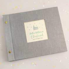 Personalised Silver Church Christening Photo Album
