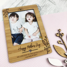 e25a25870fa4b Personalised magnetic Mother s Day Bamboo frame