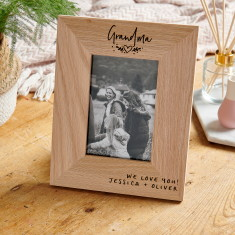 Personalised Wooden Grandparent Photo Frame