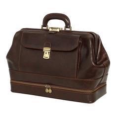 e35c538c68 Hippocrates genuine leather chocolate doctors bag