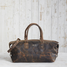 822f7104e3e Front Personalisation · Personalised Buffalo Leather Overnight Bag. by Paper  High