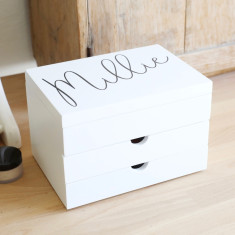 35370c9bc Personalised Name Jewellery Box with Drawers