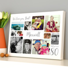 Personalised 80th Birthday Photo Collage