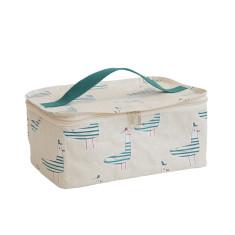 3e7dc9e494d3 Leather Wash bag - with strap. by Vida Vida.  140.00. FREE AU SHIPPING.  Stash bag in Seagull print