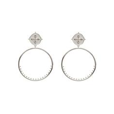 99fc5543e Sahara Small Hoop Earrings with White Topaz Stone (various colours ...