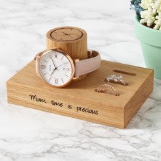 Personalised Ladies 3 Slot Ring And Watch Stand