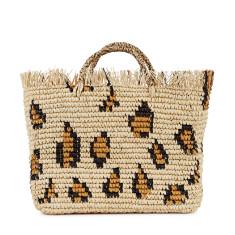 a55562443c24 Straw Tote Bag. Safari straw tote. by NIKKI WILLIAMS