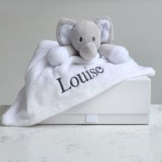 Personalised Elephant Baby Comforter