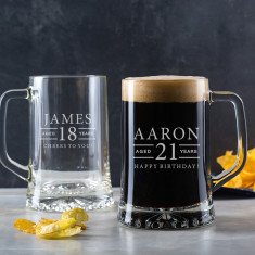 Personalised Engraved Pint Glass Tankard
